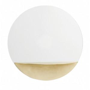 Oglinda rotunda cu raft din metal auriu 40 cm Shelf Nordal