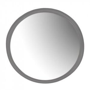 Oglinda rotunda gri din metal 35 cm Mira Grey Zago