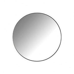 Oglinda rotunda neagra din fier si MDF 45 cm Jamel Richmond Interiors