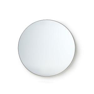 Oglinda rotunda neagra din fier si MDF 80 cm Hadid HK Living