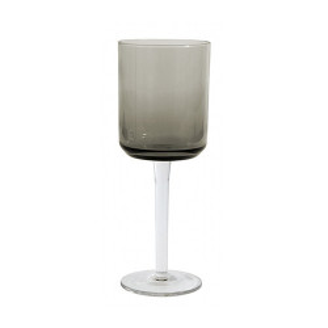 Pahar gri fum din sticla pentru vin 8x21 cm Retro Nordal