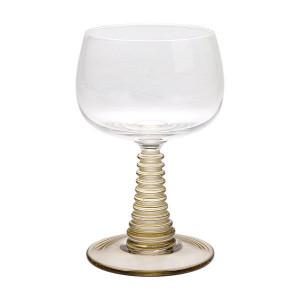 Pahar pentru vin din sticla verde Swirl HK Living