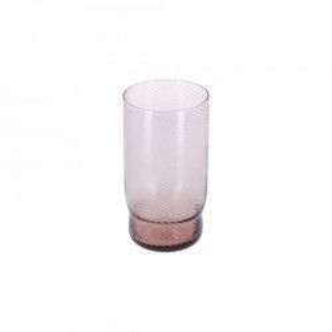 Pahar roz din sticla 8x15 cm Yida La Forma