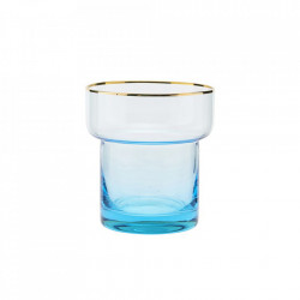 Pahar transparent/albastru din sticla 9x10 cm Indora House Doctor