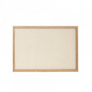 Panou memo maro din canvas si lemn 50x70 cm Bulletin Board Hubsch