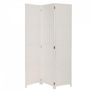 Paravan alb din hartie 175 cm Braided Paper White Unimasa