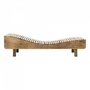 Pat de zi maro din lemn de mango 193 cm Basti House Doctor