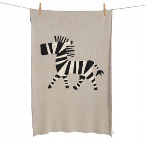 Patura din bumbac 100x160 cm Zebra Quax