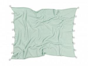 Patura verde menta din bumbac pentru copii 100x120 cm Bubbly Mint Lorena Canals