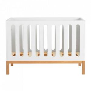Patut alb din MDF si lemn 65x124 cm Indigo Quax