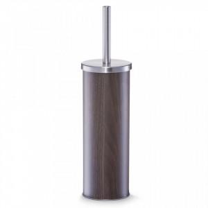 Perie toaleta maro/argintie din metal Walnut Decor Zeller