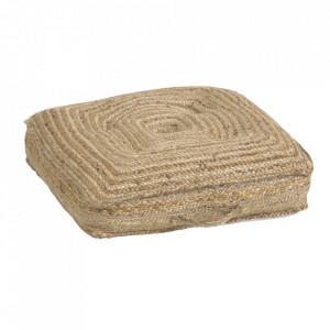 Perna de podea maro din iuta 63x63 cm Abir Kave Home