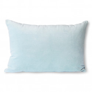 Perna decorativa dreptunghiulara albastru gheata din catifea 40x60 cm Nicolas HK Living