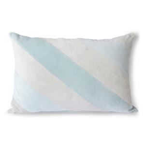 Perna decorativa dreptunghiulara albastru gheata din catifea 40x60 cm Giro HK Living