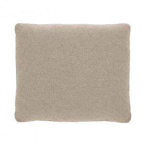 Perna decorativa dreptunghiulara crem din textil 60x70 cm Block La Forma
