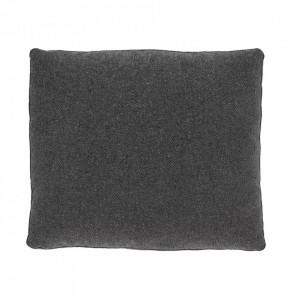 Perna decorativa dreptunghiulara gri din textil 60x70 cm Block La Forma
