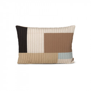 Perna decorativa dreptunghiulara multicolora din bumbac 40x60 cm Shay Quilt Ferm Living