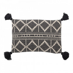 Perna decorativa dreptunghiulara neagra/alba din textil 40x60 cm Arys Bloomingville