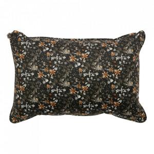 Perna decorativa dreptunghiulara neagra/multicolora din catifea 40x60 cm Aquarel Be Pure Home