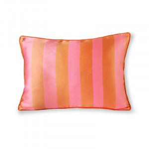Perna decorativa dreptunghiulara portocalie/roz din poliester si bumbac 35x50 cm Stripe HK Living