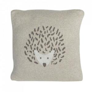 Perna decorativa patrata din bumbac 30x30 cm Hedgehog Quax