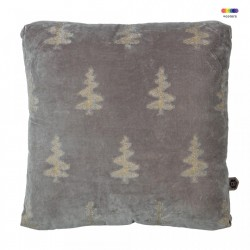 Perna decorativa patrata kaki otel din catifea 45x45 cm Forest Be Pure Home
