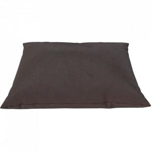 Perna decorativa patrata maro din piele 60x60 cm Classic Quattro Traceable Bolia