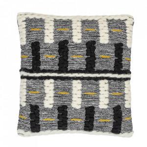 Perna decorativa patrata multicolora din lana si bumbac 50x50 cm North Bloomingville