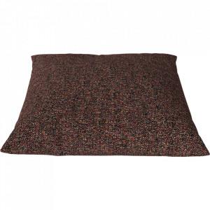 Perna decorativa patrata rosu ars din textil 50x50 cm Classic Axus Bolia