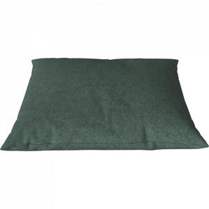 Perna decorativa patrata verde marin din lana 60x60 cm Classic Qual Bolia