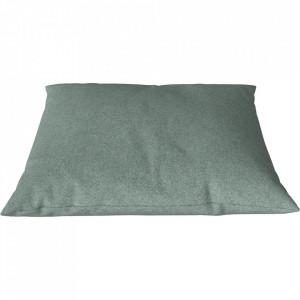 Perna decorativa patrata verde menta din lana 60x60 cm Classic Qual Bolia