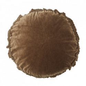 Perna decorativa rotunda maro din catifea si fibre 45 cm Caramel Madam Stoltz