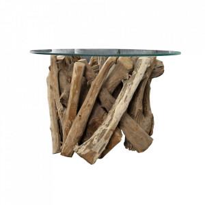 Picior pentru masa maro din lemn de tec Nature Invicta Interior