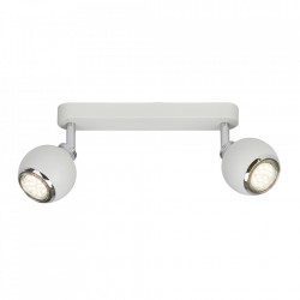 Plafoniera alba/argintie din metal cu 2 LED-uri Ina Brilliant