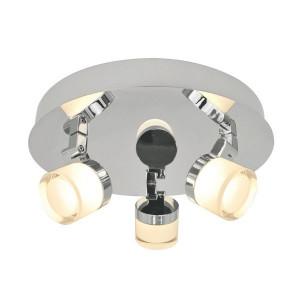 Plafoniera argintie din metal si plastic cu 3 LED-uri Aqua Zuma Line