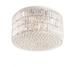Plafoniera argintie din metal si sticla cu 18 becuri Puccini Ceiling Medium Maxlight