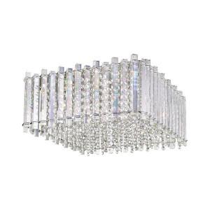 Plafoniera argintie din sticla si metal cu 5 becuri Ventus Ceiling Zuma Line