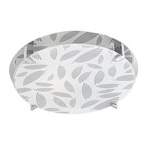 Plafoniera argintie din sticla si otel Fikus Round Candellux