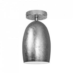 Plafoniera argintie din sticla si otel Ume Sotto Luce