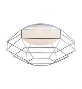 Plafoniera dimabila argintie/alba din metal si plastic cu LED Nest Markslojd