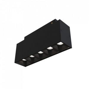 Plafoniera neagra din aluminiu cu LED Points Track Maytoni