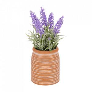 Planta artificiala cu ghiveci din ceramica 22 cm Lavender La Forma