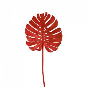 Planta artificiala rosie din fier si plastic 128 cm Monstera Pols Potten