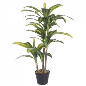 Planta artificiala verde din poliester si plastic 88 cm Dracanea Bizzotto