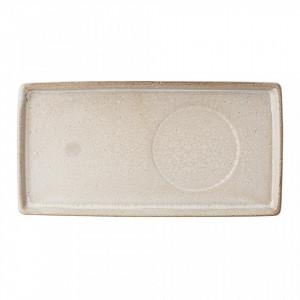 Platou crem din ceramica 13x26 cm Columbine Creative Collection