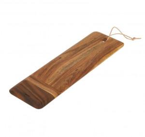 Platou maro din lemn de salcam 15x50 cm Ronli Kave Home