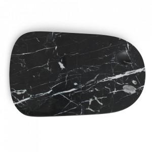 Platou servire negru din marmura 18x30 cm Pebble Normann Copenhagen