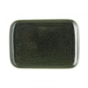 Platou verde din ceramica 18x25 cm Joëlle Bloomingville