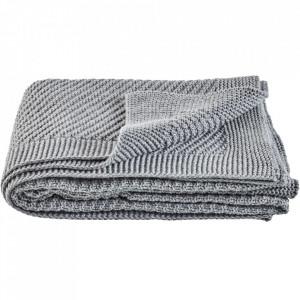 Pled gri inchis din lana 130x180 cm Soft Collection Bolia