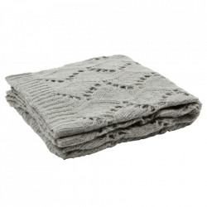 Pled kaki din lana si fibre acrilice 130x170 cm Ajour Be Pure Home